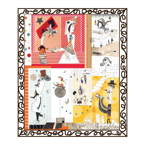 Cartón, papel y texturas: Muchas criaturas