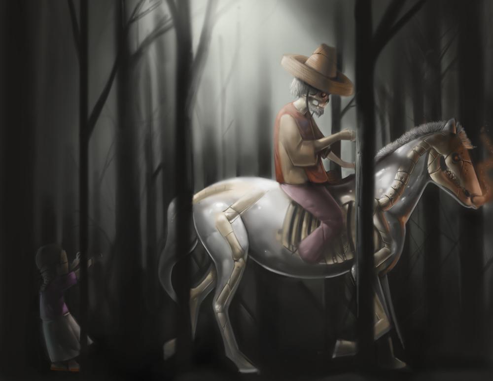 Ilustración sombría: Tareak Rivera