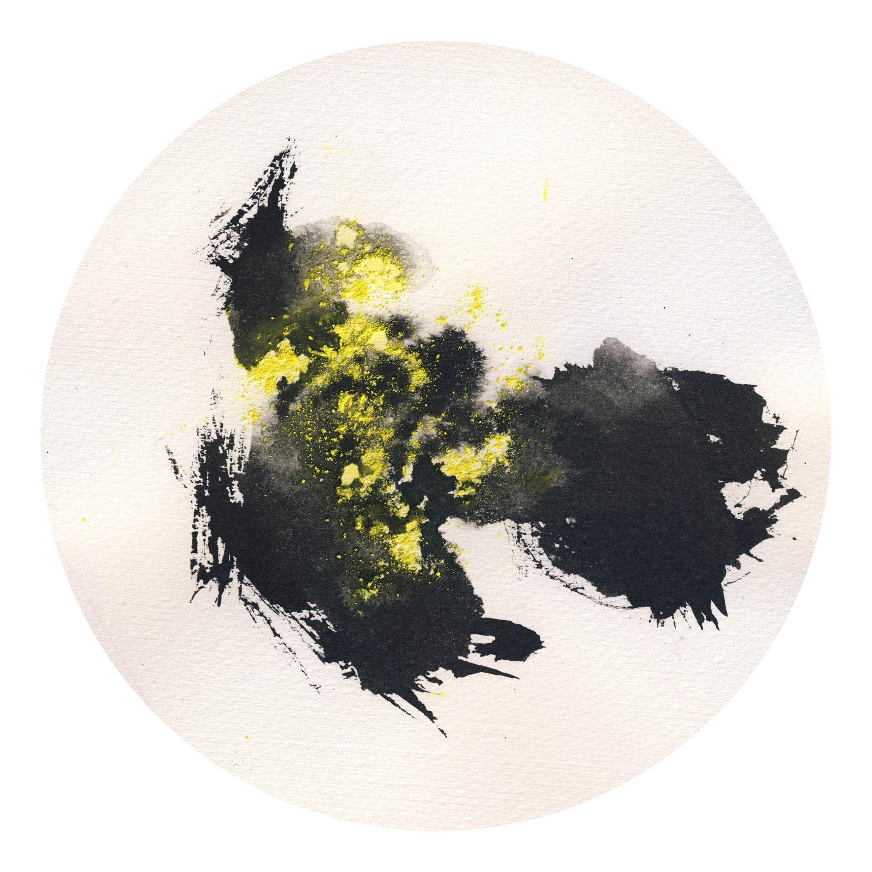 Título: 30 enero Técnica: Tinta & Pigmentos s/Papel de Algodón Medidas: ø 20 cm Año: 2016