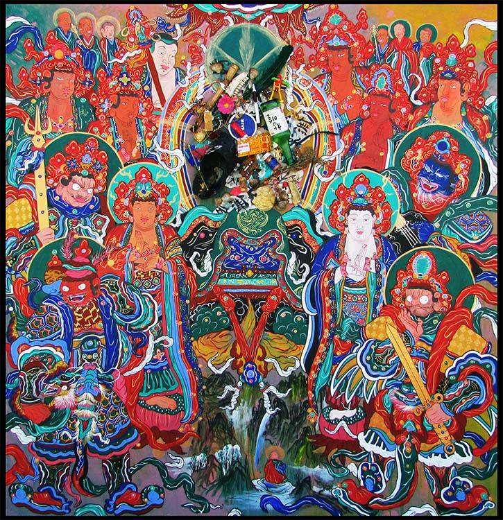 Retrato de Buda en el Nirvana (Paraíso)