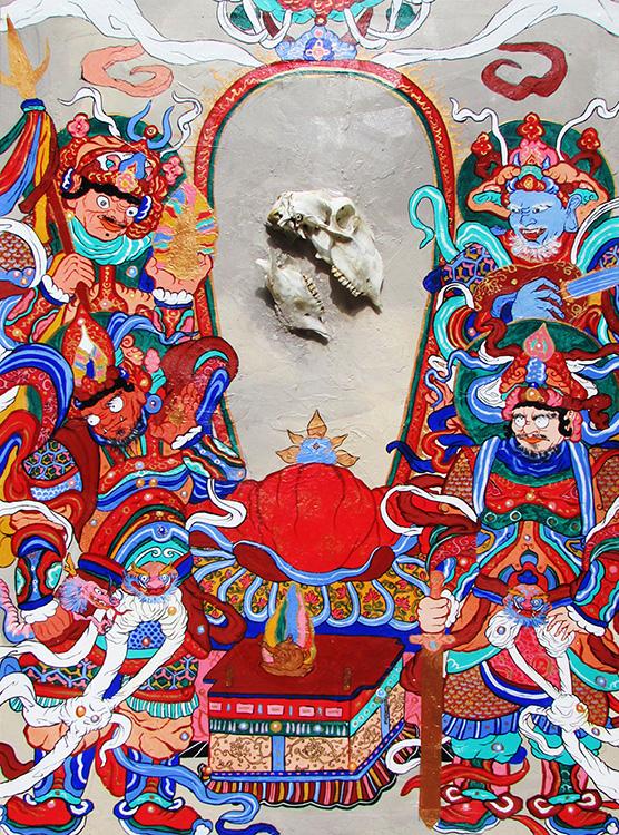 Buda con los Cuatro Devas