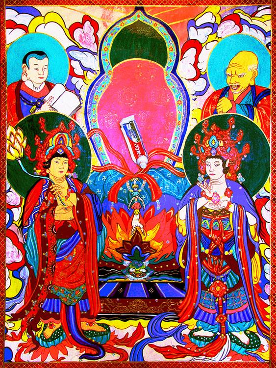Retrato del altar de Buda