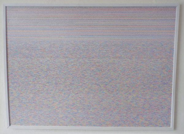 DÍArío 2011 – 2013 | Marcador permanente sobre melamínico  Medidas: 189 x 256 cm