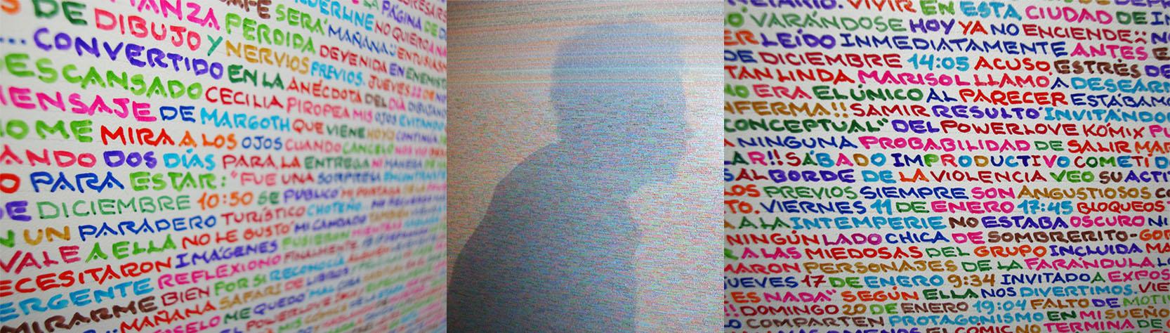DÍArío 2011 – 2013 | Marcador permanente sobre melamínico 189 x 256 cm