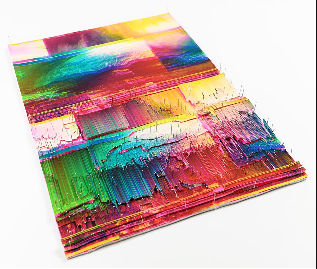 Metascapes 2019 Impresión digital de imagen generativa 90 x 90