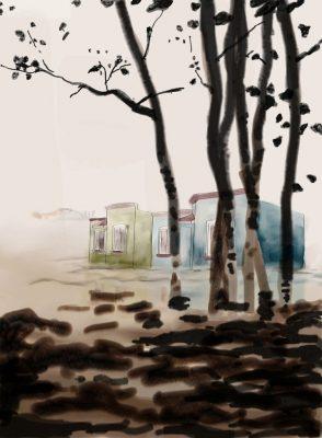 11_Casas Quma en paisaje de Giuseppe de Nittis