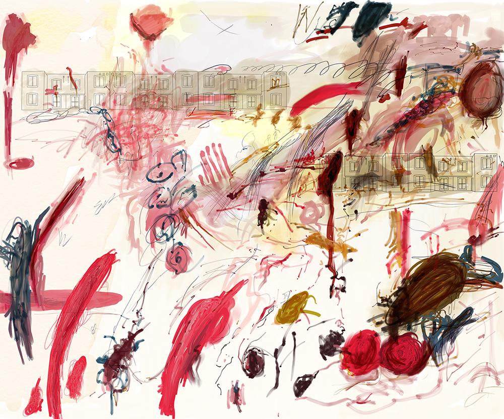3_Casas Quma en pintura de Cy Twombly